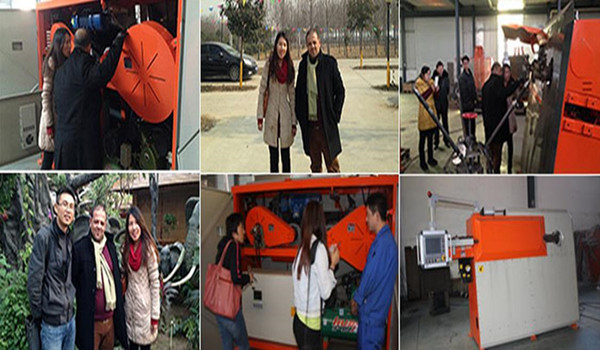 Algeria clients visiting our factory